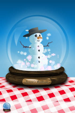 Snowy Globe iPhone Screenshot 1