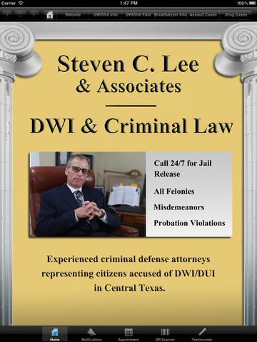 Austin DWI DUI Attorney for iPad