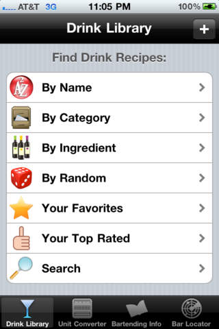 Screenshots of Drink & Cocktail Pro Lite for iPhone