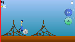 Screenshots of Super Unicycle for iPhone