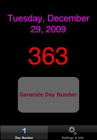 DayNumber iPhone Screenshot 1