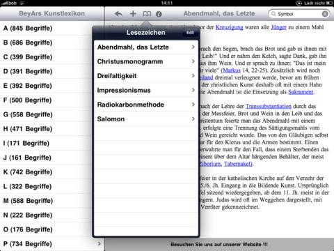 BeyArs Kunstlexikon HD iPad Screenshot 3