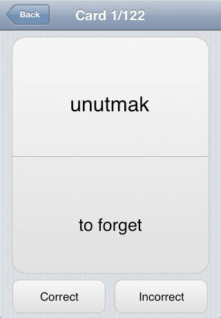iStudy: Turkish Verbs screenshot 2