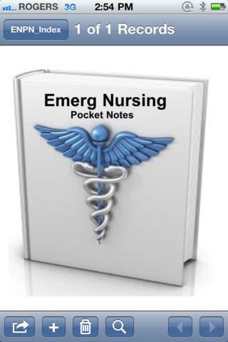 Emerg Nursing Pocket Notes