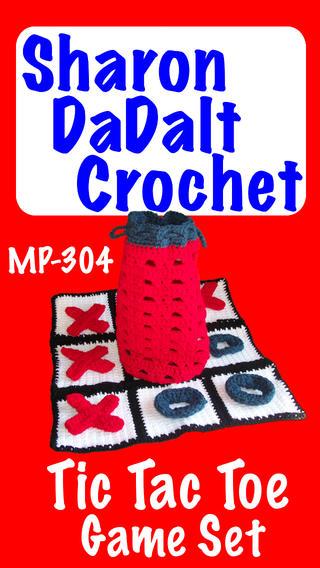 Tic Tac Toe Game Set By Sharon DaDalt Crochet