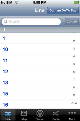 TransitGuru DATA iPhone Screenshot 1