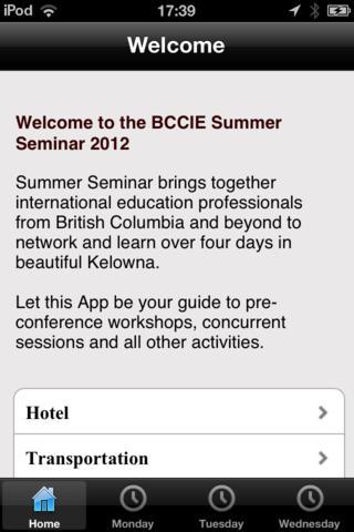BCCIE Summer Seminar 2012