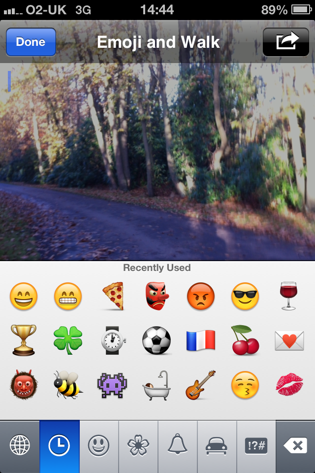 Emoji and Walk