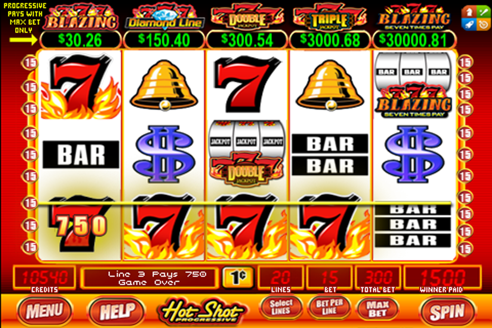 Hot Shot Progressive Slots – Play Blazing 7S by Bally Online