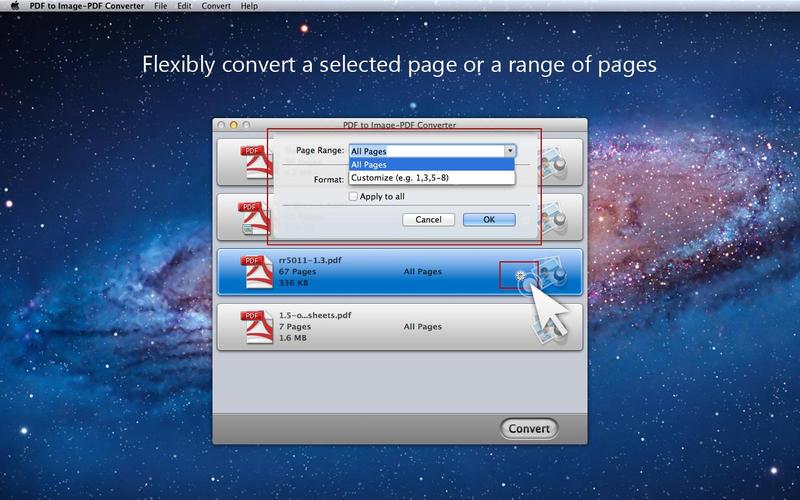 把pdf文件转换为图片 PDF to Image-PDF Converter for Mac