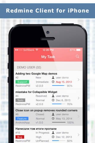 redminepm - redmine client app