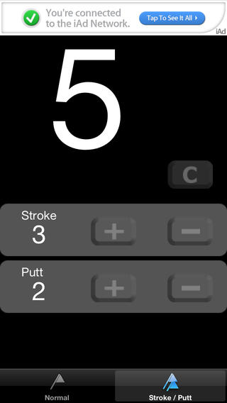 GolfCounter iPhone Screenshot 2