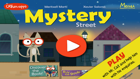 Mystery Street. Educational ebook to play and learn with a cat detective: games investigation discov