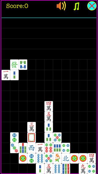 Mahtrix Mahjong Free iPhone Screenshot 1
