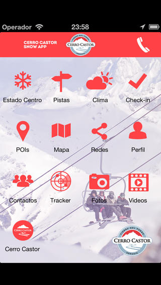 Cerro Castor Snow App