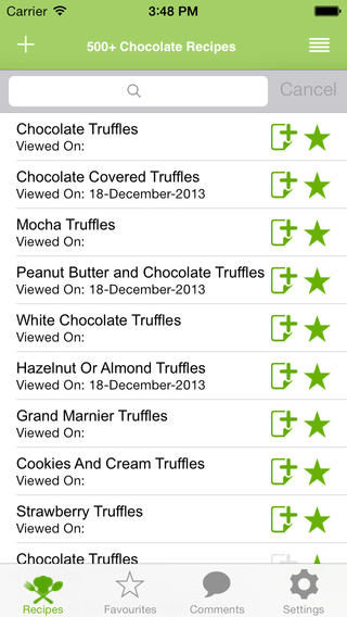 500+ Chocolate Recipes iPhone Screenshot 2