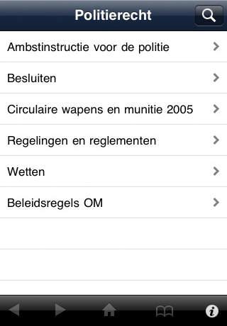Politierecht 2011 iPhone Screenshot 1