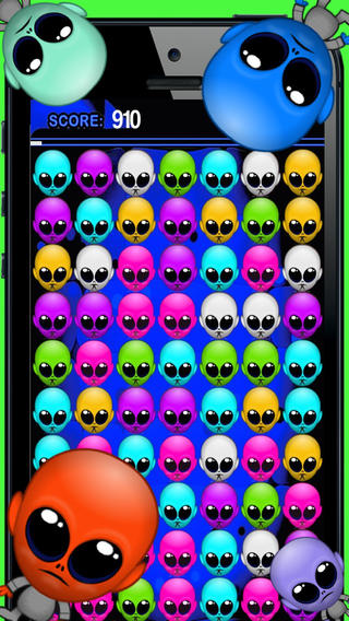 Jazzy Alien - Funky Groover Match 3 Game