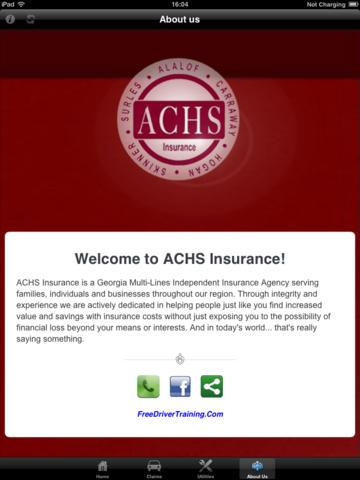 ACHS Insurance for iPad