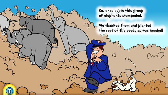 TWO ELEPHANT STAMPEDES HELPED US PLANT SEEDS