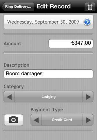 Screenshot of iSpend