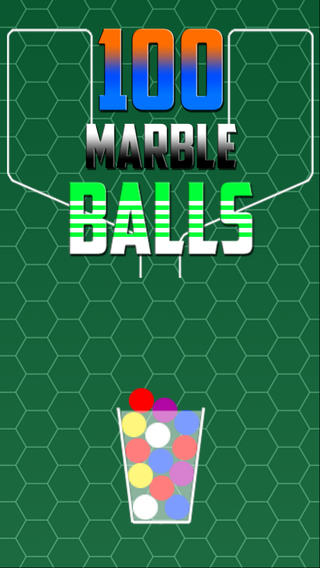 100 Color Marble - A Simple But The Best Easy Hit And Tap Quick To Drop Action Ball In The Glass Cup