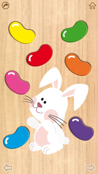 Wood Puzzle Easter Colors iPhone Screenshot 3