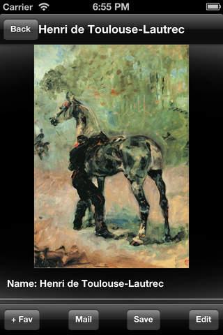 Artist Henri de Tolouse Lautrec screenshot 2