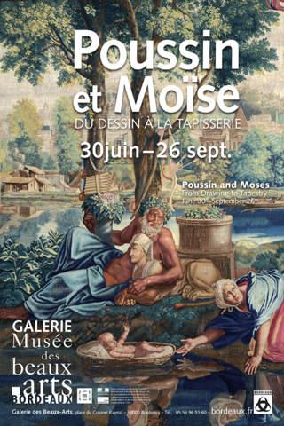 Poussin et Moïse Du dessin à la tapisserie