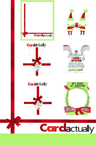 CARDactually : Xmas camera card: Interesting card frame with one click