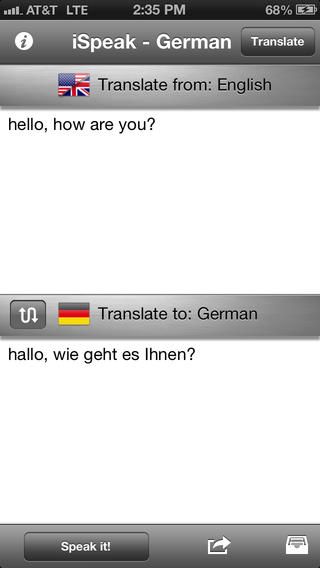 iSpeak German iPhone Screenshot 1