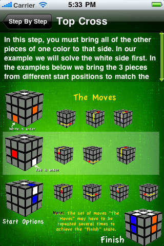 Cube Solver – Your pocket reference for solving your cube puzzle iPhone Screenshot 5