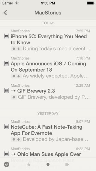 Screenshots for Reeder 2