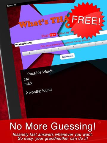 玩免費生活APP|下載What's THAT Word Cheat app不用錢|硬是要APP