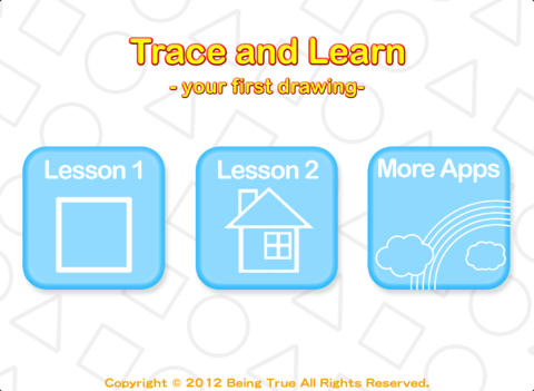 Trace and Learn - your first drawing -