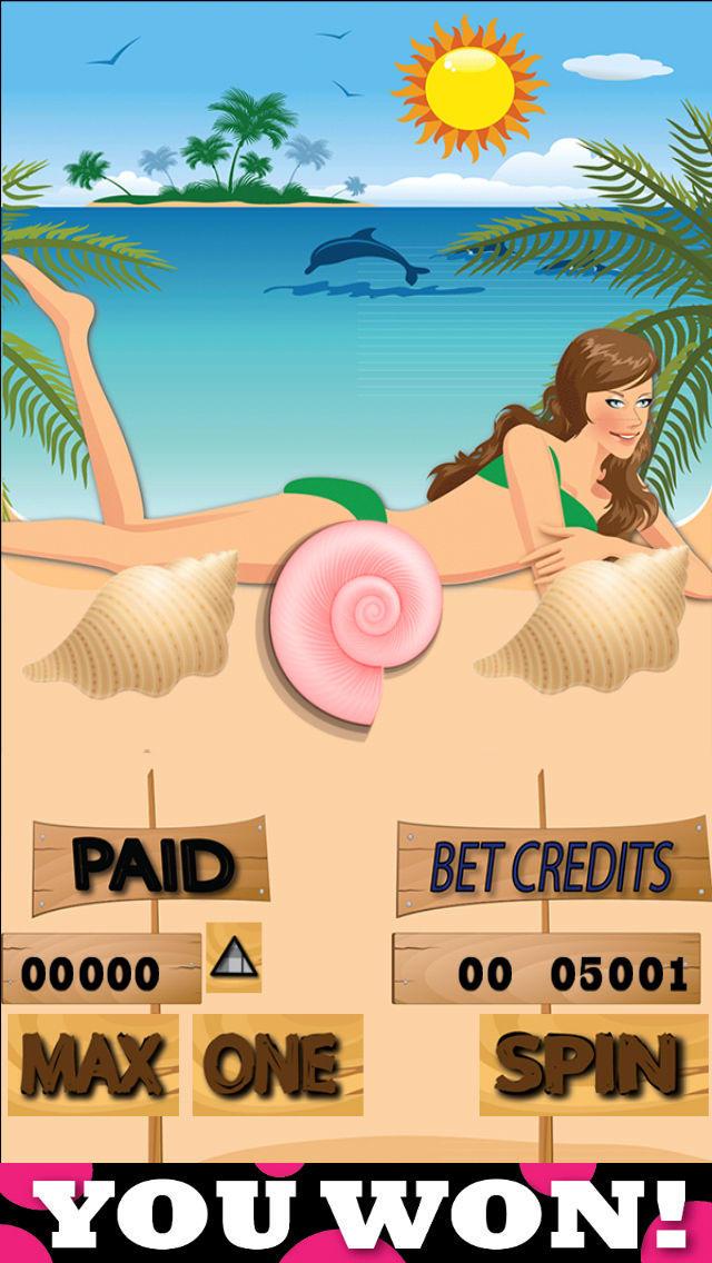 Screenshot 4 Пляжные Слоты: увлекательные игровые автоматы, блэкджек и колесо фортуны By Flappy Studio