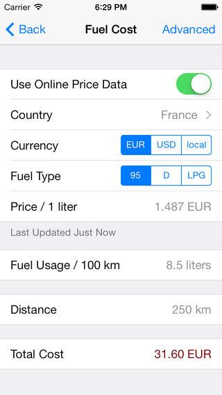 Fuels Calculator