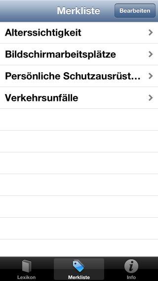 Minilexikon Arbeitsschutz EHS iPhone Screenshot 4