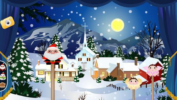 儿童圣诞哑剧木偶剧院