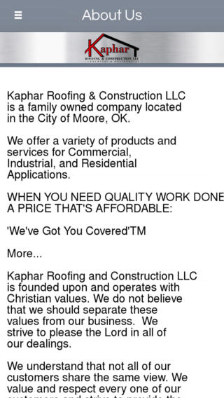 Kaphar Roofing & Construction LLC - Moore