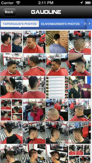 Barber mobile business card