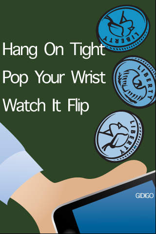 WristPop Coin Toss - Free iPhone Screenshot 1