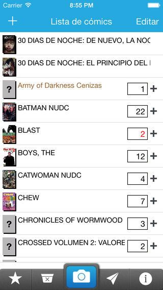 Mi Lista de Comics iPhone Screenshot 1