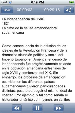 La independencia de Perú: Hecho Histórico