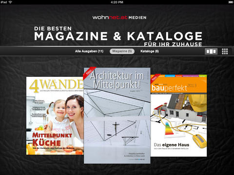 Bau Magazine Wohnnet.at Kataloge