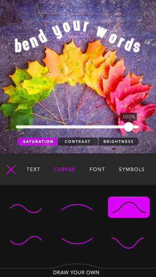 Bend-love your tagged typography & font pictures 攝影 App-癮科技App