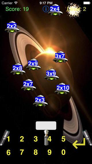 MathInvaders iPhone Screenshot 2