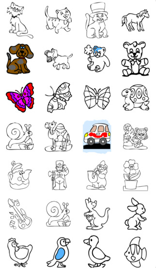 A Coloring Book for kids iPhone Screenshot 3