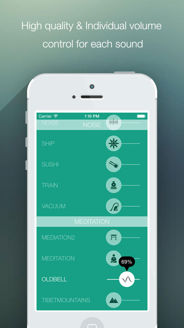 SoundMask: Relax Melodies, Genius Sleep, White Noisli, Brainwave & Yoga Meditation  Screenshot
