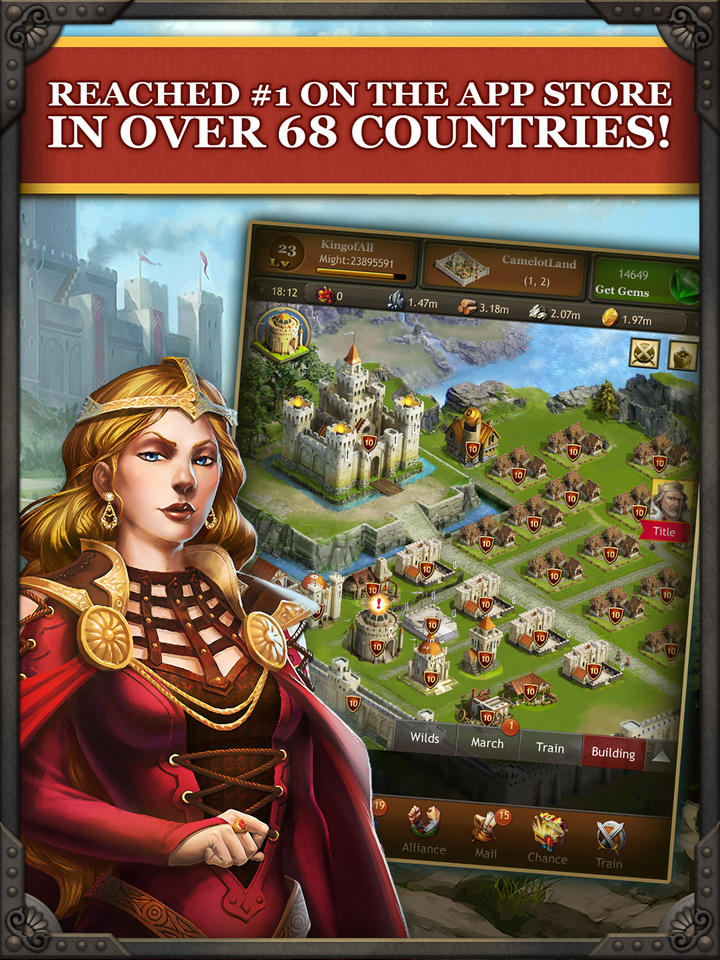 Kingdoms of Camelot: Battle for the North ® - iPhone Mobile Analytics and App Store Data